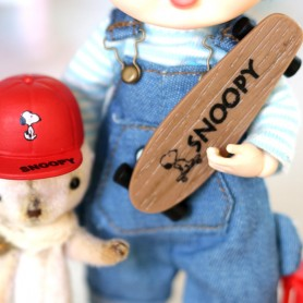 SNOOPY SKATEBOARD & HELMET DOLL TOY MINIATURE STODOLL OB11 LATI YELLOW PUKIFEE AMYDOLL DIORAMA DOLLHOUSE