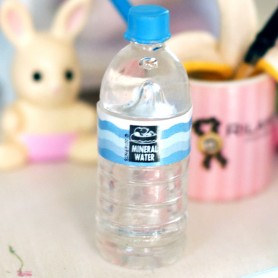 MINERAL WATER BOTTLE MINIATURE STODOLL OB11 LATI YELLOW PUKIFEE AMYDOLL BARBIE BLYTHE PULLIP DIORAMA DOLLHOUSE