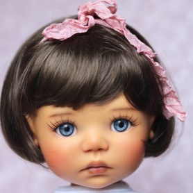 "DOLL WIG BOB BROWNIE 11.12"" BJD MEADOWDOLLS SAFFI BAILEY SYLVIA SCARLET 18"" DOLLS ETC..."