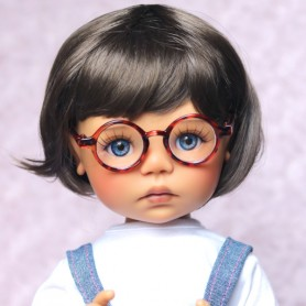ROUND VINTAGE TURTLE BROWN GLASSES FOR BJD DOLLS BLYTHE CUSTOM DOLL MEADOWDOLLS SAFFI BAILEY AMERICAN GIRL DOLL