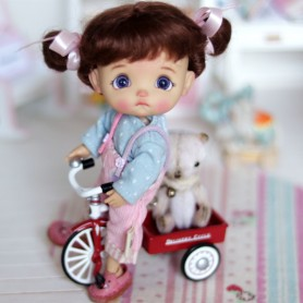 GARTON DELIVERY CYCLE HALLMARK 1950 BIKE COLLECTOR MINIATURE LATI WHITE SP PUKIPUKI BJD DOLLHOUSE