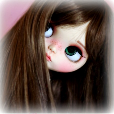 MONIQUE PEGGY SUE LIGHT BROWN DOLL WIG 10-11 FOR BLYTHE MEADOWDOLLS MAE ADRYN...