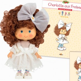 PETITE FIANCÉE 34 + BOOK + CARD STRAWBERRY SHORTCAKE SCENTED DOLL CHARLOTTE AUX FRAISES DESIGN 1980