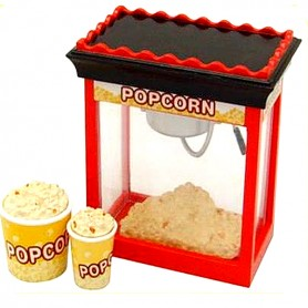POP CORN MACHINE MINIATURE ORCARA 2009 REMENT RE-MENT DOLL LATI YELLOW BARBIE BLYTHE PULLIP DIORAMA DOLLHOUSE 1/6