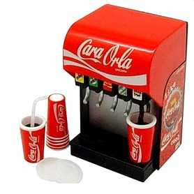 COCA COLA DISPENSER MINIATURE ORCARA 2009 RARE REMENT RE-MENT DOLL LATI YELLOW BARBIE BLYTHE PULLIP DIORAMA DOLLHOUSE 1/6