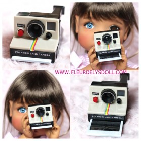 POLAROID CAMERA TOY FOR DOLLS DOLLHOUSE DIORAMA MEADOWDOLLS MAE ADRYN AND BIG DOLLS...