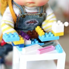 SET DE 25 MINI LEGOS JOUETS MINIATURE POUPEE BJD LATI YELLOW PUKIFEE BARBIE STODOLL OB11 AMY DOLL BLYTHE PULLIP DIORAMA