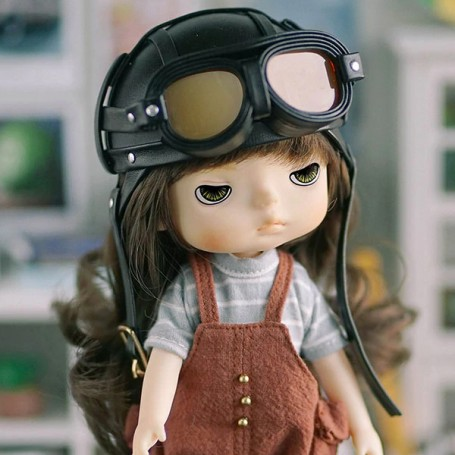 LOVELY VALENTINE PLANE DRIVER DOLL 20 CM FULLY ARTICULATED + OUTFITS IN BOX HOLALA DOLL SIZE