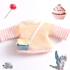 SWEATER COLOR OUTFIT FOR OB11 AMYDOLL STODOLL LATI WHITE SP PUKIPUKI OBITSU 11 CM DOLLS