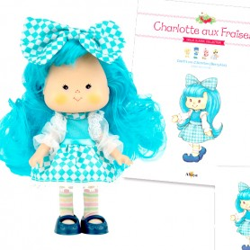 BABA HORTENSIA 32 + BOOK + CARD STRAWBERRY SHORTCAKE SCENTED DOLL CHARLOTTE AUX FRAISES DESIGN 1980
