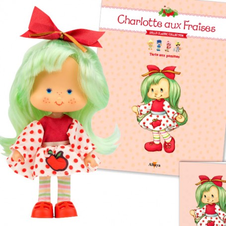 APPLE PIE 37 + BOOK + CARD STRAWBERRY SHORTCAKE SCENTED DOLL CHARLOTTE AUX FRAISES DESIGN 1980