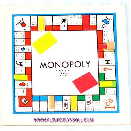 MONOPOLY DOLL GAME MINIATURE BARBIE FASHION ROYALTY BJD BLYTHE PULLIP LATI YELLOW PUKIFEE DOLLHOUSE DIORAMA