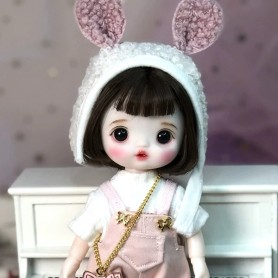 LOVELY LALA DOLL 16 CM FULLY ARTICULATED + OUTFIT + WIG + SHOES LATI YELLOW SIZE