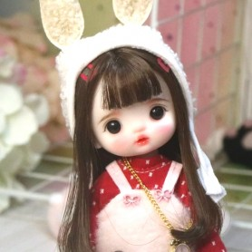 LOVELY MALICE DOLL 16 CM FULLY ARTICULATED + OUTFIT + WIG + SHOES LATI YELLOW SIZE
