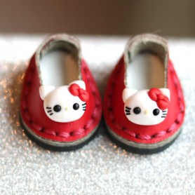 HELLO KITTY MINI REAL LEATHER DOLL SHOES FOR OB11 STODOLL AMY DOLL LATI WHITE SP PUKIPUKI OBITSU 11 MINI DOLLS