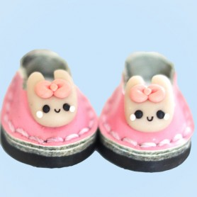 MY MELODY MINI REAL LEATHER DOLL SHOES FOR OB11 STODOLL AMY DOLL LATI WHITE SP PUKIPUKI OBITSU 11 MINI DOLLS