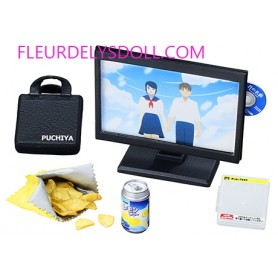 TV + CHIPS + DVD SLOVENLY CHAMBRE MINIATURE REMENT POUPEE STODOLL OB11 LATI YELLOW PUKIFEE MIDDIE BLYTHE PULLIP BARBIE DOLL 2018