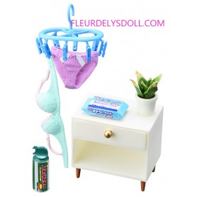LAUNDRY SET + FURNITURE SLOVENLY ROOM MINIATURE ACCESSORIES SET RE-MENT DOLL STODOLL OB11 BARBIE BLYTHE PULLIP DOLL 2018