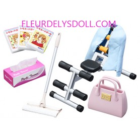 FITNESS + BAG + MOP BROOM SET SLOVENLY ROOM MINIATURE ACCESSORIES SET RE-MENT DOLL STODOLL OB11 BARBIE BLYTHE PULLIP DOLL 2018
