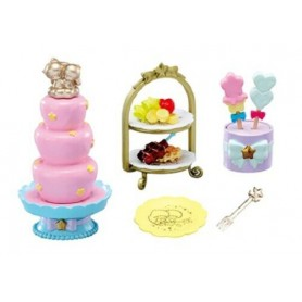 TWINKLE PARTY SET CHOCOLATE FOUNTAIN LITTLE TWIN STARS REMENT KAWAII MINIATURE REMENT RE-MENT DOLL STODOLL OB11 AMYDOLL BLYTHE