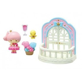 TWINKLE PARTY SET BALCONY & ++ LITTLE TWIN STARS REMENT KAWAII MINIATURE REMENT RE-MENT DOLL STODOLL OB11 AMYDOLL BLYTHE