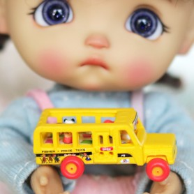 MINI BUS ECOLE 2018 FISHER PRICE MINIATURE STODOLL OB11 LATI YELLOW PUKIFEE AMYDOLL MAISON DE POUPÉES DIORAMA DOLLHOUSE
