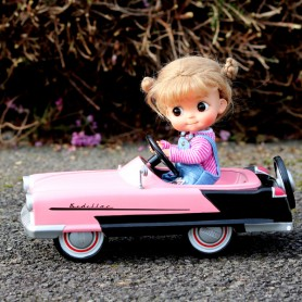 VINTAGE PEDAL CAR KADILLAC GARTON 1956 DOLL MINIATURE STODOLL OB11 AMYDOLL NENDOROID KKNER DIORAMA DOLLHOUSE