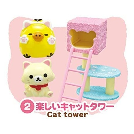 PINK CAT TOWER CAT CAFE MINIATURE ACCESSORIES SET RE-MENT DOLL STODOLL OB11 BARBIE BLYTHE PULLIP DOLL 2015