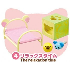 RELAXATION TIME CAT CAFE MINIATURE ACCESSORIES SET RE-MENT DOLL STODOLL OB11 BARBIE BLYTHE PULLIP DOLL 2015