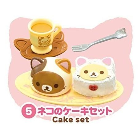 CAKE SET CAT CAFE MINIATURE ACCESSORIES SET RE-MENT DOLL STODOLL OB11 BARBIE BLYTHE PULLIP DOLL 2015