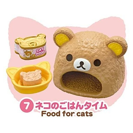 HOME & FOOD FOR CATS SET CAT CAFE MINIATURE ACCESSORIES SET RE-MENT DOLL STODOLL OB11 BARBIE BLYTHE PULLIP DOLL 2015