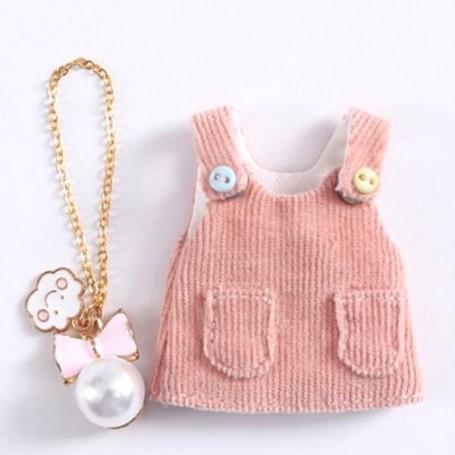 BABY PINK DRESS + COLLAR OUTFIT FOR OB11 STODOLL LATI WHITE SP PUKIPUKI OBITSU 11 CM DOLLS