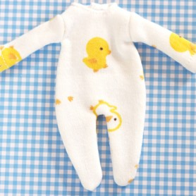 LOVELY DUCK PYJAMA OUTFIT FOR BJD DOLL OB11 STODOLL AMY DOLL KKNER LATI WHITE SP PUKIPUKI OBITSU DOLLS
