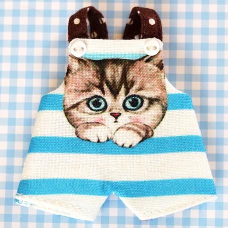 KAWAII CAT OVERALL OUTFIT FOR DOLL OB11 STODOLL NENDOROID KKNER AMYDOLL LATI WHITE SP PUKIPUKI OBITSU 11 MINI DOLLS