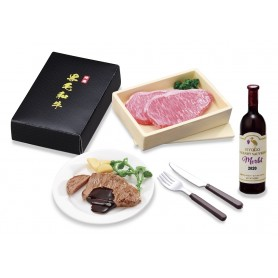 WAGYU BEEF AND WINE SET REMENT RE-MENT MINIATURE DOLL DIORAMA BARBIE BLYTHE PULLIP NENDOROID OB11 STODOLL