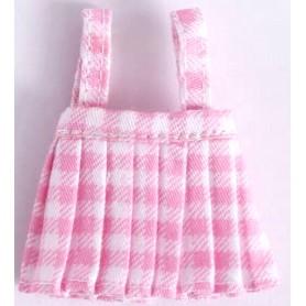 PINK VICHY DRESS OR TOP OUTFIT FOR DOLL OB11 STODOLL NENDOROID KKNER AMYDOLL LATI WHITE SP PUKIPUKI OBITSU 11 MINI DOLLS