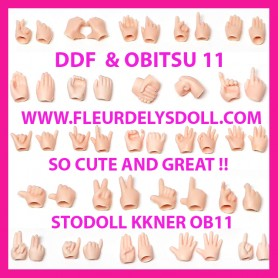 DDF ADDITIONAL SET OF HANDS FOR NENDOROID STODOLL OB11 OBITSU 11 DOLL DDF BODY SIZE