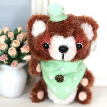 LOVE BROWN BEAR CUDDY TOY DOLL MINIATURE BARBIE BJD STODOLL OB11 AMYDOLL LATI YELLOW PUKIFEE BLYTHE PULLIP DOLLHOUSE DIORAMA