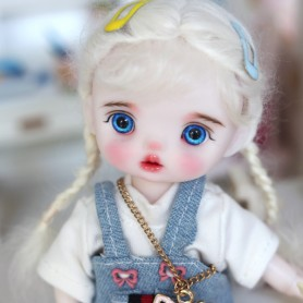 LOVELY SIDONIE DOLL 16 CM FULLY ARTICULATED + OUTFIT + WIG + SHOES LATI YELLOW SIZE