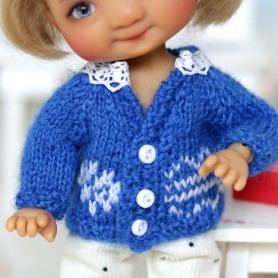 LOVELY SWEATER OUTFIT FOR BJD DOLL MEADOWDOLLS TWINKLES LATI YELLOW PUKIFEE AND OTHER SMALL DOLLS