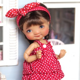 HELLO KITTY DRESS OR TOP OUTFIT FOR BJD DOLL MEADOWDOLLS TWINKLES LATI YELLOW PUKIFEE AND OTHER SMALL DOLLS