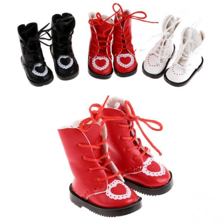 RED BOOTS FOR BJD DOLL MEADOWDOLLS TWINKLES LATI YELLOW PUKIFEE AND OTHER SMALL DOLLS