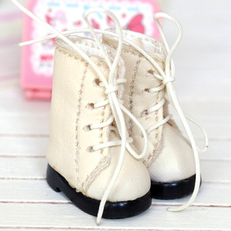 IVORY BOOTS FOR BJD DOLL MEADOWDOLLS TWINKLES LATI YELLOW PUKIFEE AND OTHER SMALL DOLLS