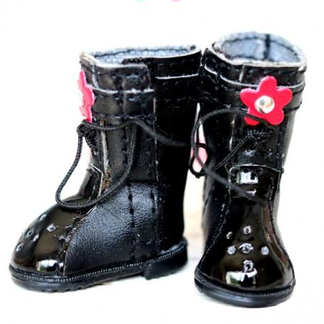 BLACK BOOTS FOR BJD DOLL MEADOWDOLLS TWINKLES LATI YELLOW PUKIFEE AND OTHER SMALL DOLLS