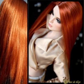 DOLL WIG MONIQUE PARIS DOUBLE RED FOR BARBIE FASHION ROYALTY RILEY DOLLS ...