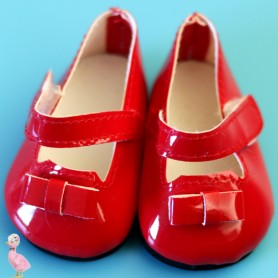 RED PAINTED SHOES FOR BJD DOLL MAE AYA MASHA MOPPETS DOLLS FROM MEADOWDOLLS