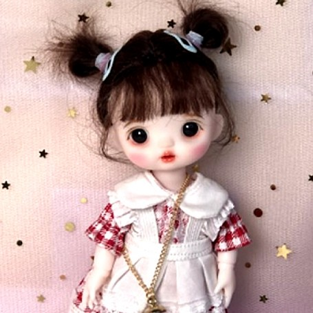 LOVELY GWENDOLINE DOLL 16 CM FULLY ARTICULATED + OUTFIT + WIG + SHOES LATI YELLOW SIZE