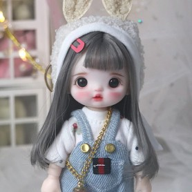 LOVELY SWEETIE DOUCEUR DOLL 16 CM FULLY ARTICULATED + OUTFIT + WIG + SHOES LATI YELLOW SIZE
