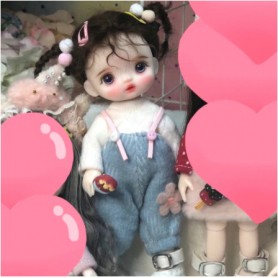 ADORABLE POUPÉE LILY ROSE DOLL ARTICULEE 16 CM AVEC TENUE CHAUSSURES & PERRUQUE TAILLE LATI YELLOW