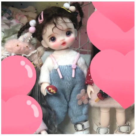 LOVELY LILY ROSE DOLL 16 CM FULLY ARTICULATED + OUTFIT + WIG + SHOES LATI YELLOW SIZE